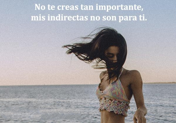 No Te Creas Tan Importante Mis Indirectas No Son Para Ti frases bonitas - No Te Creas Tan Importante Mis Indirectas No Son Para Ti frases bonitas