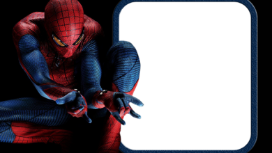 Spiderman 390x220 - Marcos para fotos de spiderman gratis