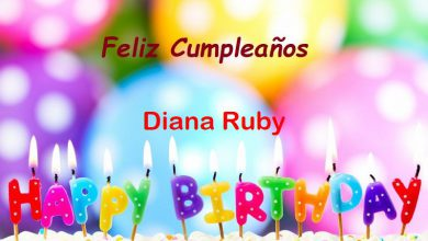Photo of Feliz Cumpleaños Diana Ruby