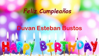 Photo of Feliz Cumpleaños Duvan Esteban Bustos