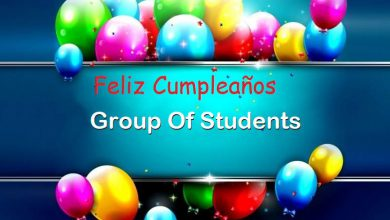 Photo of Feliz Cumpleaños Group Of Students