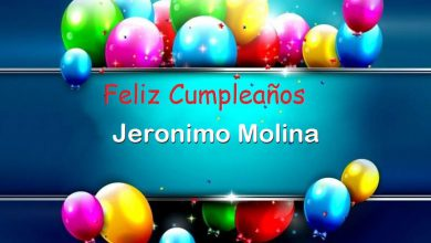 Photo of Feliz Cumpleaños Jeronimo Molina