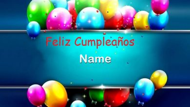 Photo of Feliz Cumpleaños Name