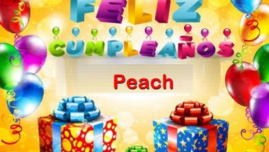 Photo of Feliz Cumpleaños Peach