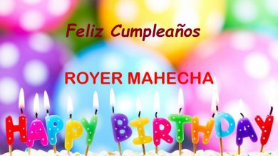 Photo of Feliz Cumpleaños ROYER MAHECHA